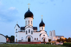 Pokrov-Nikolskaya orthodox church in Klaipeda Stock Photos