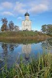 Pokrov op de kerk Nerl Stock Afbeeldingen