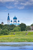 Pokrova Bozhiej Materi orthodox church in Marienburg, Gatchina, Russia Royalty Free Stock Image