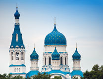 Pokrova Bozhiej Materi's orthodox church in Marienburg, Gatchina, Russia. Pokrova Bozhiej Materi's orthodox church in Marienburg,  Russia Royalty Free Stock Images