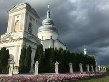Pokrovsʹka Orthodox Church in Ukraine stock photography