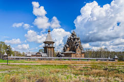 The Pokrovskaya church and the bellfry. Royalty Free Stock Image