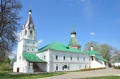 Pokrovskayakerk in Alexandrovskaya Sloboda, Alexandrov Royalty-vrije Stock Afbeelding