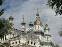 Pokrovsky大教堂在哈尔科夫 库存照片