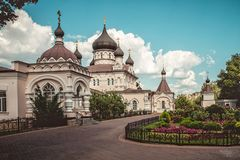 Pokrovsky Abbey. Architecture view. Historical buildings. royalty free stock images
