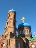 pokrovsky barnaul的大教堂 免版税库存照片