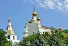 The Pokrovsky Cathedral in Kharkiv Stock Images
