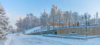 Pokrovsky domkyrka i Kharkiv ukraine Fotografering för Bildbyråer