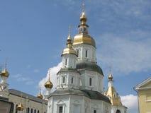 Pokrovsky domkyrka i Kharkov royaltyfria foton