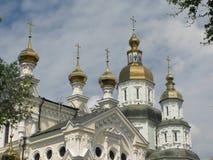 Pokrovsky domkyrka i Kharkov fotografering för bildbyråer