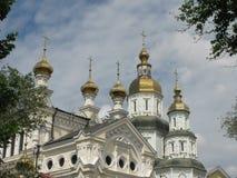 Pokrovsky domkyrka i Kharkov arkivfoton