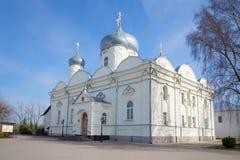 Pokrovsky domkyrka i kloster i Veliky Novgorod Arkivbild