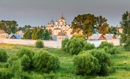 Pokrovsky kloster i Suzdal Fotografering för Bildbyråer