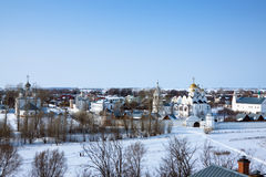 Pokrovsky monastery  at Suzdal in winter Stock Photos