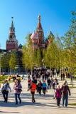 Pokrovsky St basilu Katedralny ` s Kremlin od P i Moskwa Zdjęcie Royalty Free