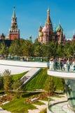 Pokrovsky St basilu Katedralny ` s Kremlin od Pa i Moskwa Obraz Royalty Free