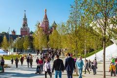 Pokrovsky St basilu Katedralny ` s Kremlin od Pa i Moskwa Zdjęcie Royalty Free