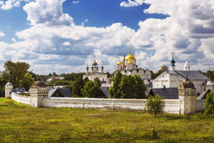 Pokrovsky women`s monastery, view from above. Suzdal Royalty Free Stock Photos