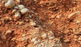 Pokruszona czerwieni kamienia skały ściana Zdjęcie Stock