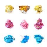 Pokruszona piłka odizolowywająca kolorowy papier Zdjęcie Royalty Free