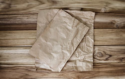 Pokruszony kucharstwa lub pieczenia papieru prześcieradło Obrazy Royalty Free