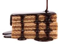 Pokryci tyczni opłatki czekolada. Obraz Stock