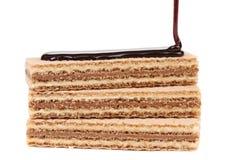 Pokryci tyczni opłatki czekolada Obraz Royalty Free