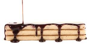 Pokryci tyczni opłatki czekolada Obrazy Stock
