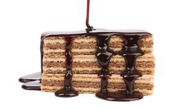 Pokryci tyczni opłatki czekolada Obraz Stock