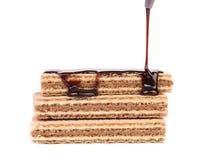 Pokryci tyczni opłatki czekolada Zdjęcie Stock
