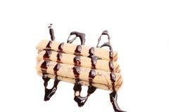 Pokryci tyczni opłatki czekolada Fotografia Royalty Free