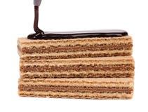 Pokryci tyczni opłatki czekolada Fotografia Stock