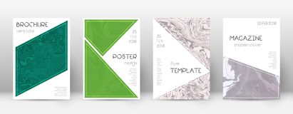 pokrycie streszczenie Faktyczny projekta szablon Suminagashi marmuru trójboka plakat Faktyczny modny abstrakt c royalty ilustracja