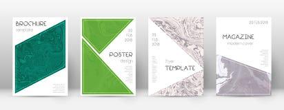 pokrycie streszczenie Faktyczny projekta szablon Suminagashi marmuru trójboka plakat Faktyczny modny abstrakt c ilustracji