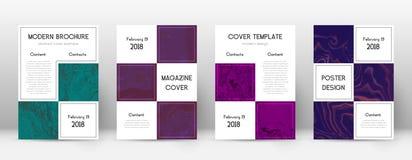 pokrycie streszczenie Przyjemny projekta szablon Suminagashi marmuru biznesu plakat Przyjemny modny abstra ilustracji