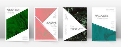 pokrycie streszczenie Przyjemny projekta szablon Suminagashi marmuru trójboka plakat Przyjemny modny abstra royalty ilustracja
