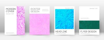 pokrycie streszczenie Unequaled projekta szablon Suminagashi marmurowy minimalny plakat Unequaled modny abstr Royalty Ilustracja
