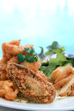 pokryta głęboka mąka smażący owoce morza Obraz Stock