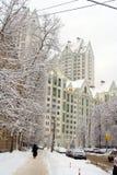 pokryta street śniegu Fotografia Royalty Free