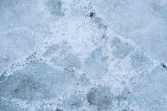 Pokryty szczelina lód Zdjęcia Royalty Free