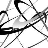Pokrywać się przypadkowego wyginającego się linii, kształtów grayscale geometrycznego klepnięcie/ Obraz Stock