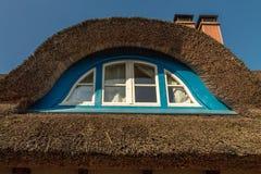 Pokrywać strzechą dachowy szczegół Zdjęcia Royalty Free