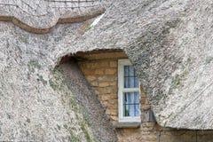 pokrywać strzechą domowy dach Zdjęcia Royalty Free