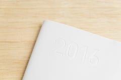 2016 pokrywa biała planista książka Fotografia Royalty Free