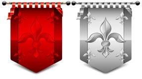 pokrywa fleur royalty ilustracja