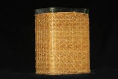 Pokrywająca szklana waza fotografia stock