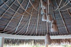 Pokrywający strzechą dach Obraz Royalty Free