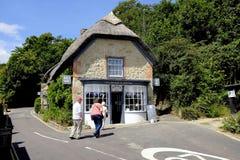 Pokrywający strzechą herbaciani pokoje, Godshill, wyspa Wight, UK Obrazy Royalty Free