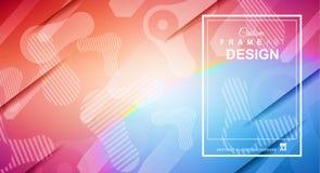 Pokrywy lub ulotki układ z Geometrycznym kolorowym tłem z cześć Obraz Royalty Free