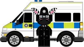 Polícia bonito da zebra Fotografia de Stock Royalty Free
